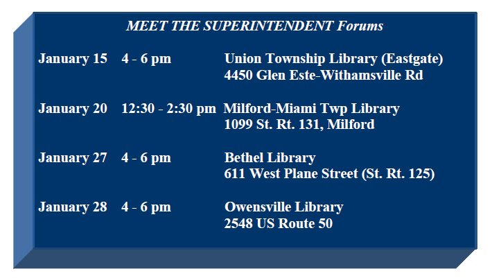 Meet the Superintdent Forum