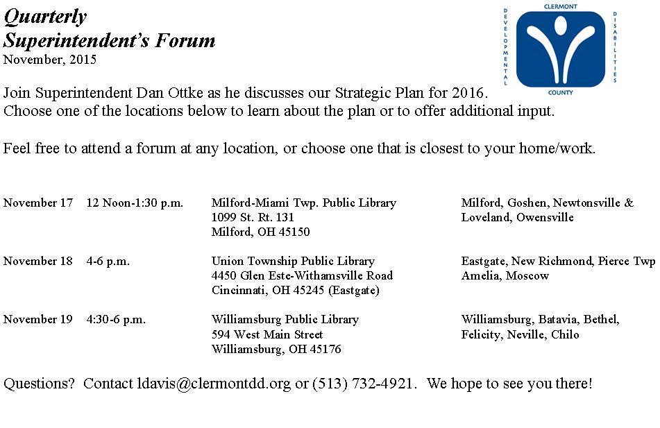 November Forum Postcard